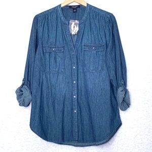 NWT Nine West Jeans Josefina Denim Shirt